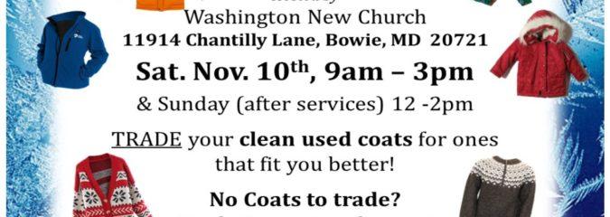 Coat Swap – Sat. Nov. 10th 9am-3pm