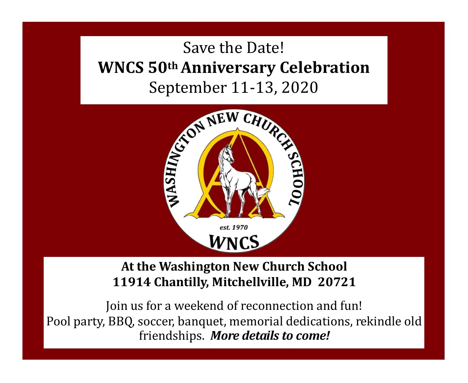 WNCS 50th Save the Date